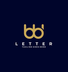 Logo abstract letter b line art style vector