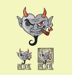 Love devil vector