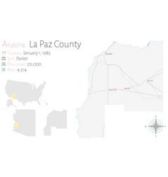Map la paz county in arizona vector