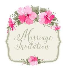 Marriage invitation card vector image