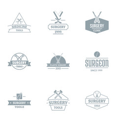 Med tool logo set simple style vector