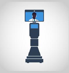 medical robotic doctor vector image