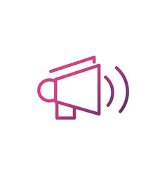 megaphone network social media icon line vector image