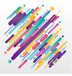 Modern style abstract composition made of various vector