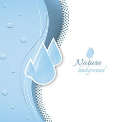 Natural background with water drops vector