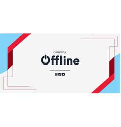 Offline background design vector