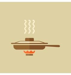 Pan Food Flat Icon vector