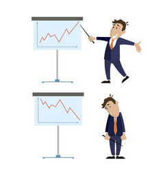 people and presentation growth and lowering vector image