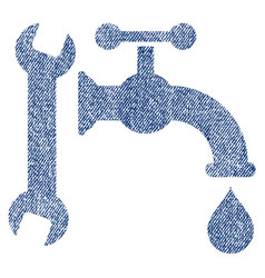 Plumbing fabric textured icon vector