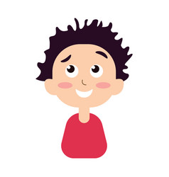 Portrait of a happy boy smiling vector