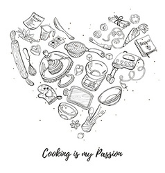 Poster about cooking vector