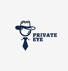 private eye logo vector image vector image