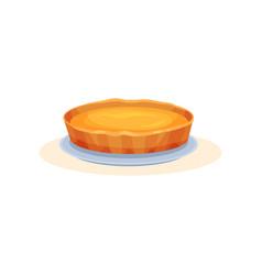 Pumpkin pie traditional thanksgiving pie vector