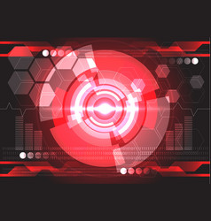 Red monitor power computer technology vector