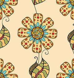 Retro Beige Floral Pattern vector