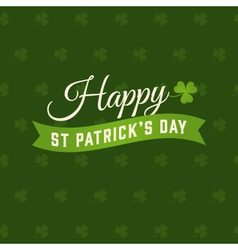 saint patrick card vector image