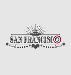 San francisco city name vector