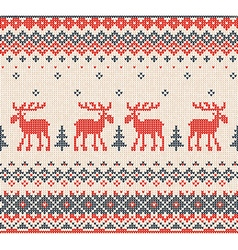 Scandinavian or Russian flat style knitted pattern vector image