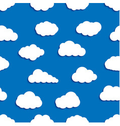 seamless pattern background clouds vector image