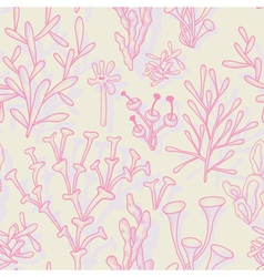 Seamless pattern with abstract corals vector
