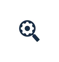 search gear logo icon design vector image