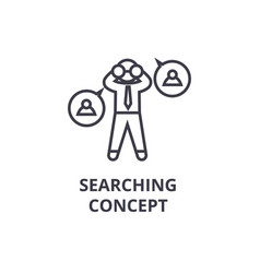 searching concept thin line icon sign symbol vector image
