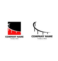 set of abstract bridge logo design template vector image