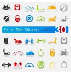 Set of diet stickers vector