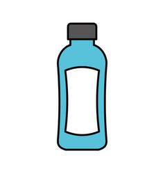 shampoo plastic bottle lotion or shower gel vector image