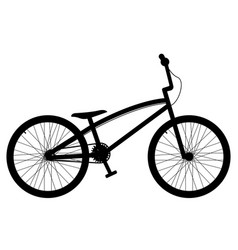 side view of a bike vector image