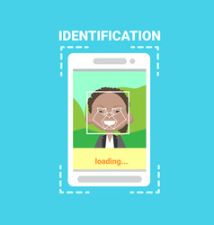 Smart phone loading face identification system vector