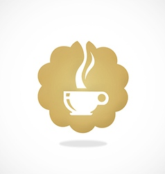 Tea coffee cafe icon abstract logo vector