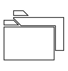 two folder it is black icon vector image