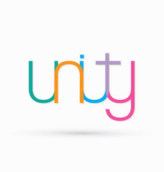 Unity text design graphic vector