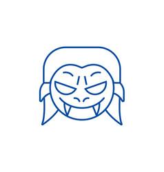 vampire emoji line icon concept vampire emoji vector image