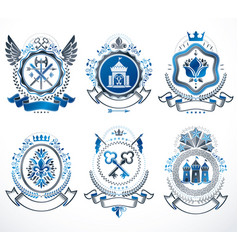 Vintage heraldic coat arms designed in award vector