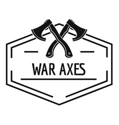 war axe logo simple black style vector image