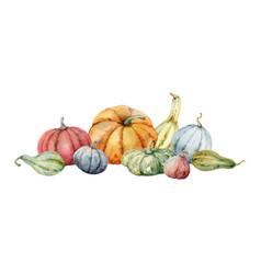 Watercolor festive autumn decor from vector
