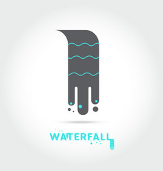 waterfall logo design vector image