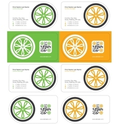 Wheel business card 2 vector