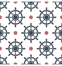 Wheel seamless pattern vector image