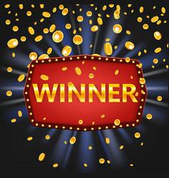 winner frame label banner template win vector image