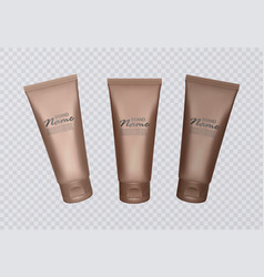 With self tanning concentrate vector