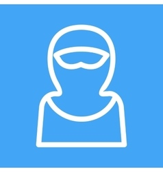 Woman with Niqab vector
