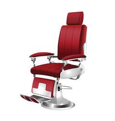 barber chair vintage vector image