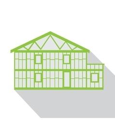 House green logo real estate design template vector image vector image