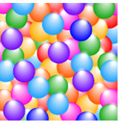 Rainbow colors glossy balls background vector
