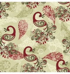 seamless winter pattern with stylized peacocks vector image
