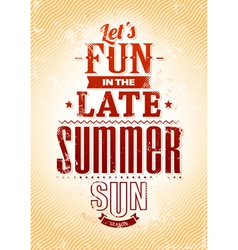 Summer Typography vector image vector image