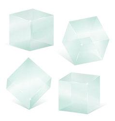 Transparent glass cubes vector image